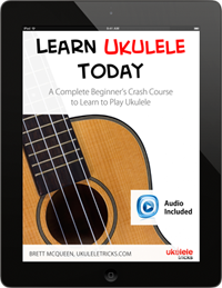 Get the brand new, interactive Ukulele Tricks lesson book, designed for the iPad