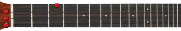 C major ukulele chord