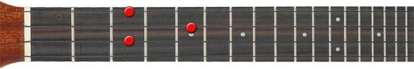 A diminished ukulele chord