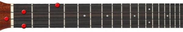 F minor ukulele chord