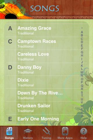 Ukulele Songbook iPhone & iPad app