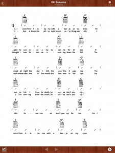 Ukulele Songbook app - Click to enlarge