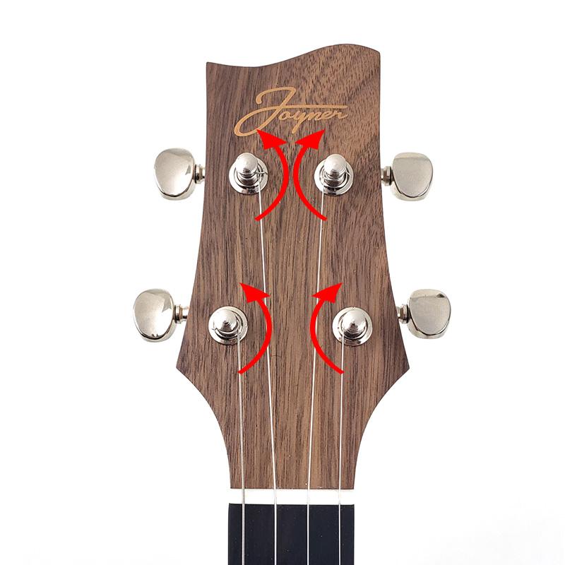 Ukulele Headstock String Winding