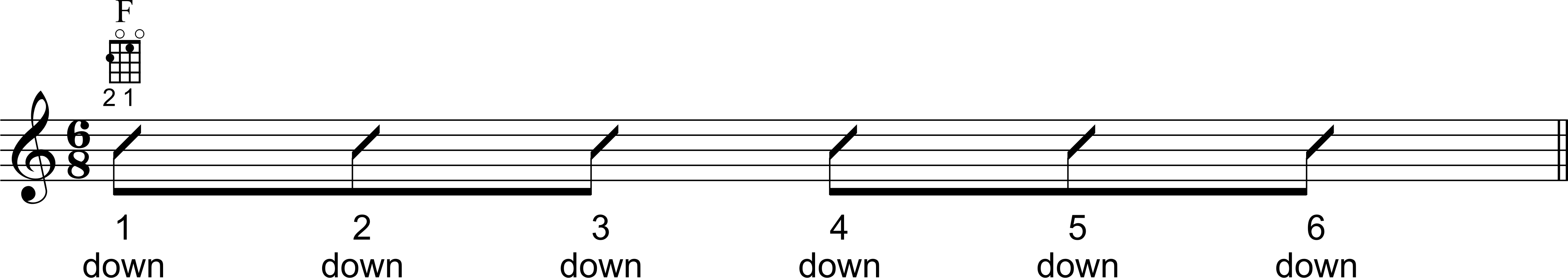Down Strumming Pattern